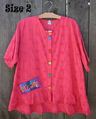 Spring Coral Picnic Blouse