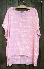 Eden Rock Pink Letter Top