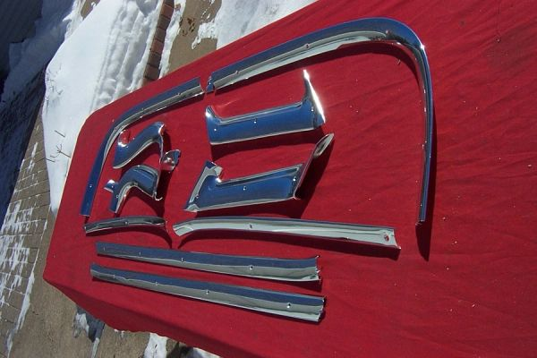 1959 - 1960 Headliner Trim (4 dr hardtop/flattop)
