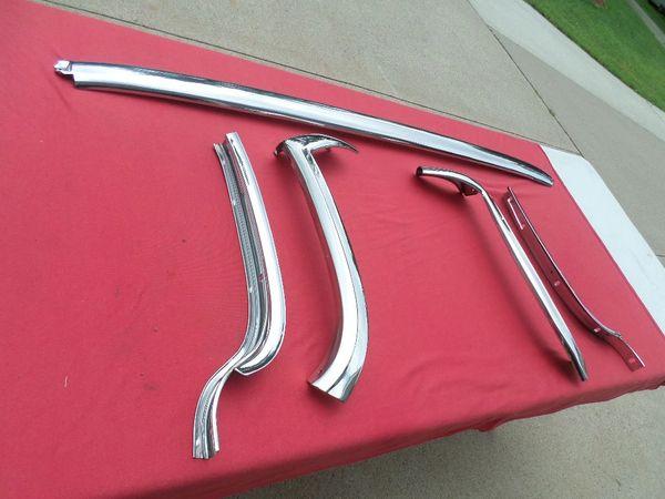 1961 - 1962 Impala Convertible Header and Pillar Trim