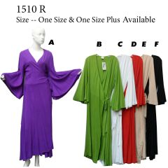 WRAP DRESS SOLID COLORS