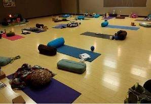 A picture from our yoga teacher training in PA