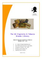 The UK Cigarette & Tobacco Brands Library
