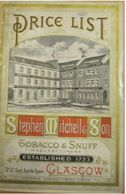 Stephen Mitchell & Son Price List