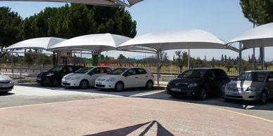 Carports for multiple vehicles in Cyprus, by Shadeports Plus.
