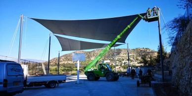 Shade sail service and maintenance contracts from Shadeports Plus Ltd in Cyprus.