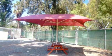 Classic Shadeports Plus shade Umbrella in Cyprus.