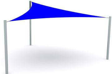 Outdoor Shade Sail designed to provide shade by Shadeports Plus