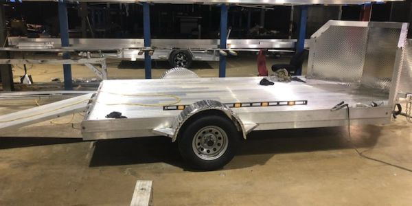 Motorcycle Aluminum Trailer with Air Dam
