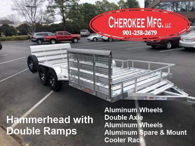 Hammerhead Open Plank Aluminum Trailer with double ramps