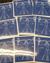 UL - Vitruvian Wonder Lifter - Vinyl Sticker