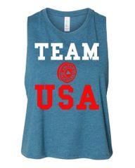 UL - Team USA - Ladies Racerback Cropped Tank