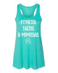UL - Fitness Tacos & Mimosas - Flowy Tank Top