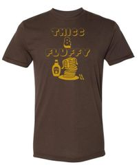 UL - Thicc & Fluffy - Unisex Tee - BROWN