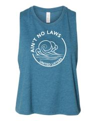 UL - Ain't No Laws - Ladies Racerback Crop Tank