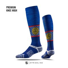 UL - Blue Sock Yellow Plate - Knee High Regular Size