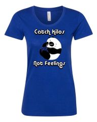 UL - Catch Kilos Not Feelings - Blue Ladies Tee