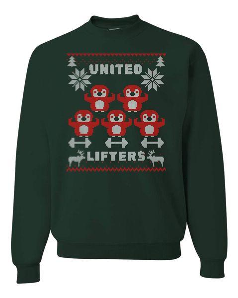 UL - Unisex Sweatshirt - CHRISTMAS PENGUINS - GREEN