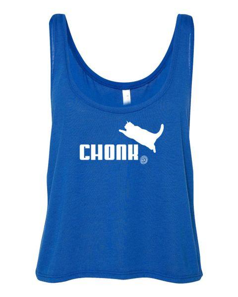 UL - CHONK - FLOWY CROP TANK - BLUE
