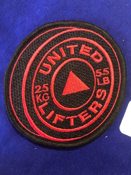 UL - Black and Red Plate VELCRO PATCH
