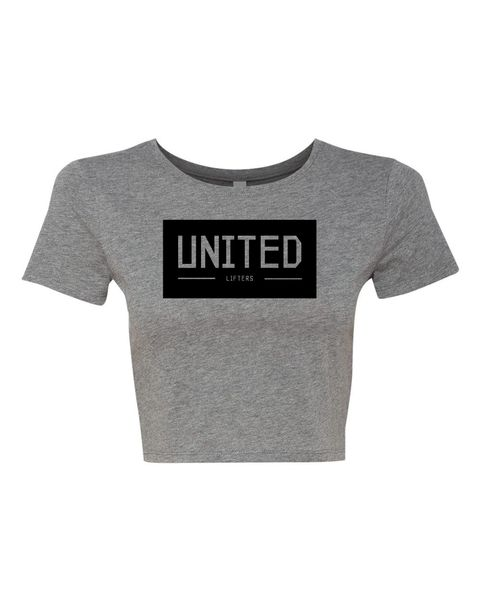 UL - UNITED - Gray Ladies Poly/Cotton Crop Tee