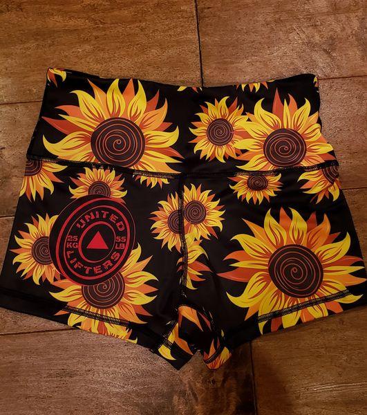 UL Active Shorts - SUNFLOWER - HIGH WAISTED BLACK SHORTS