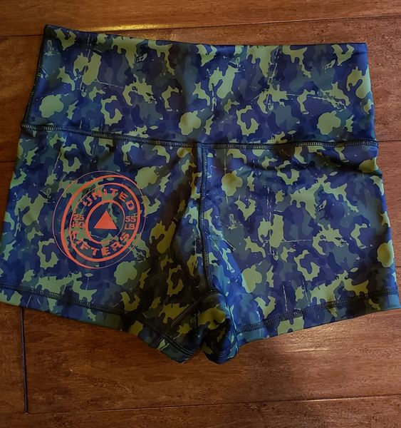 UL - High waisted Active Shorts - GREEN CAMO