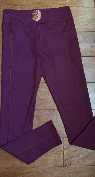 UL - FULL LEGGINGS - MAROON WITH POCKETS