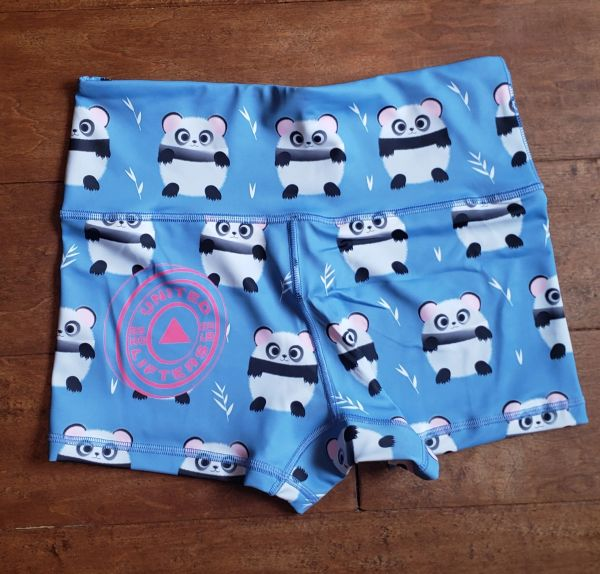 UL Active Shorts - PANDA - Baby blue HIGH WAIST