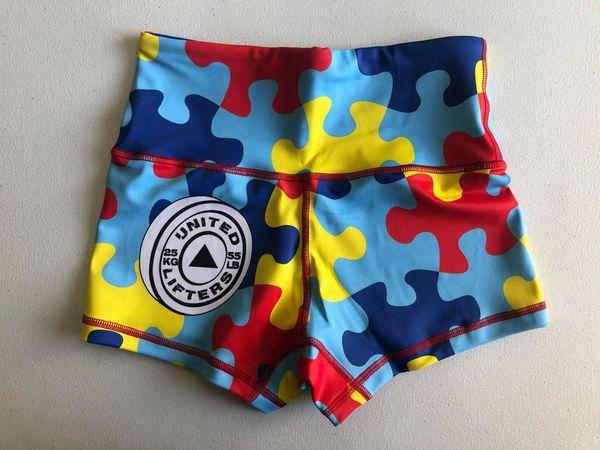 UL - HIGH WAIST - Ladies Active Shorts - Autism Fundraiser