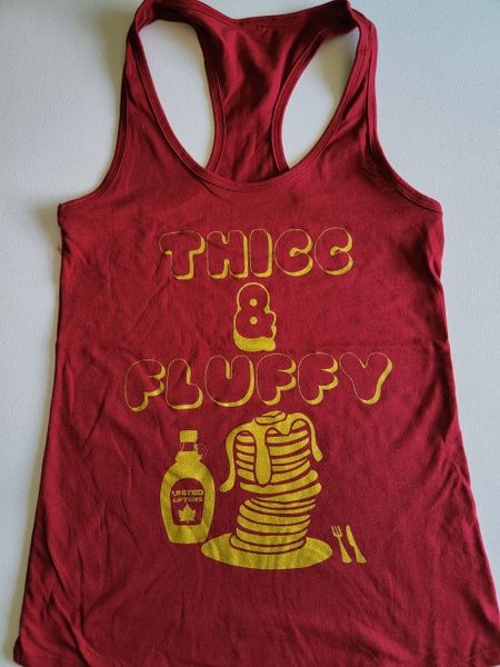 UL - Thicc & Fluffy - Ladies Racerback Tank