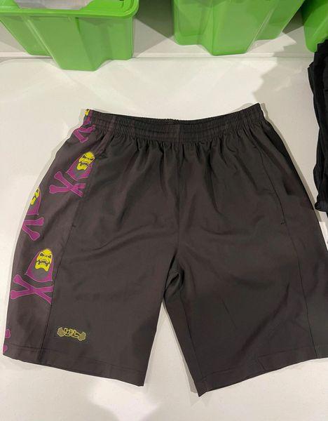 UL - PO - PURPLE SKELETON - Flexible Shorts (Long inseam)