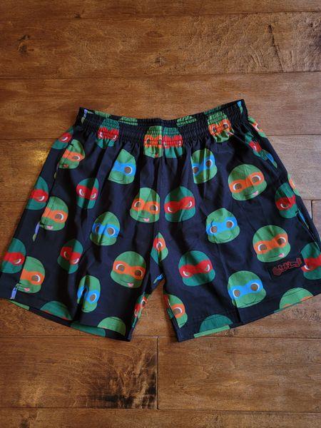 UL - PO - 4TURTLES (BLACK) - Flexible Shorts