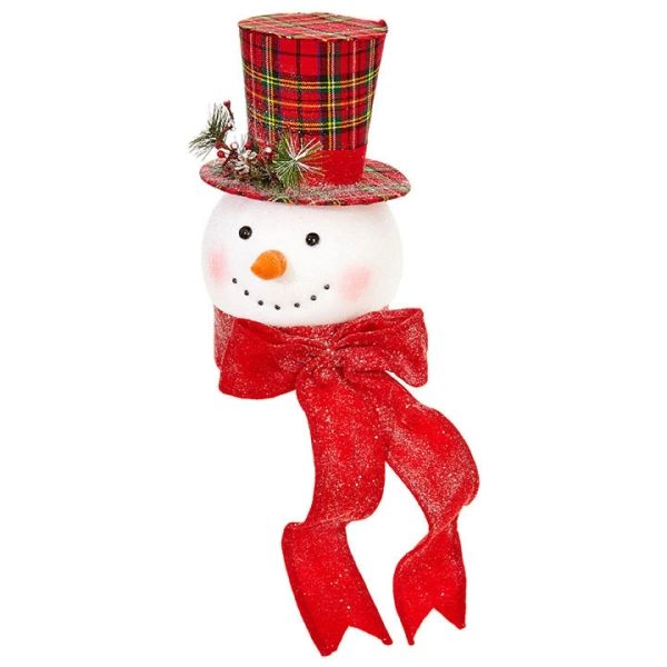 Raz Imports 14 75 Everything Merry Snowman Head Christmas Tree Topper
