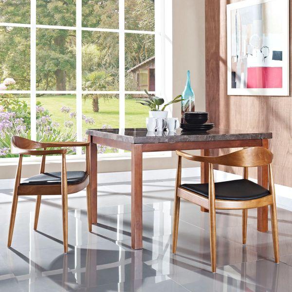 Hans Wegner Style Bertram Dining Armchair-Black
