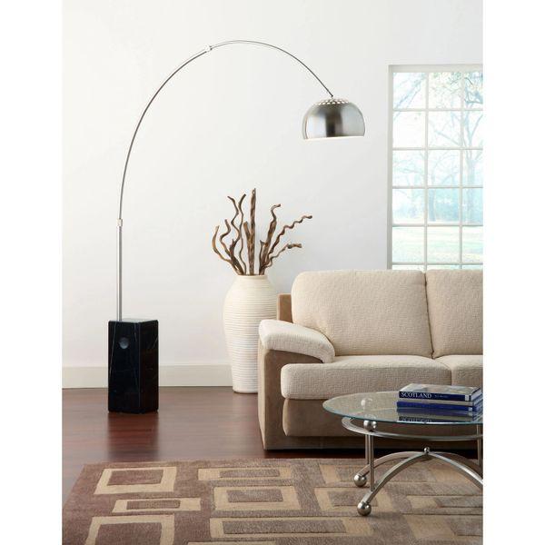 Roger Arch Floor Lamp-Black Marble