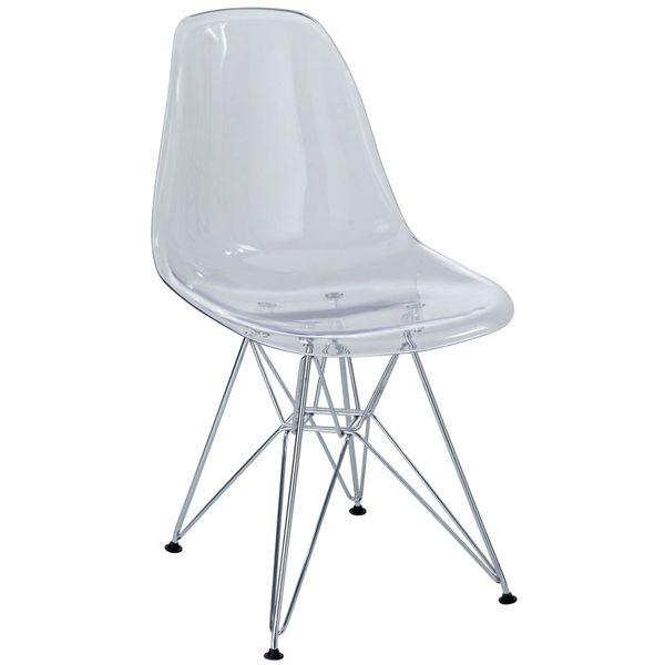 Eiffel Side Chair-Clear