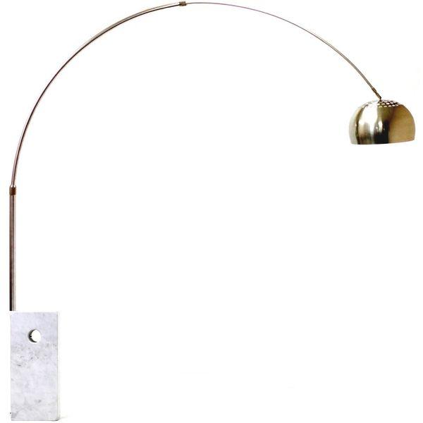 Roger Arch Floor Lamp-White Marble