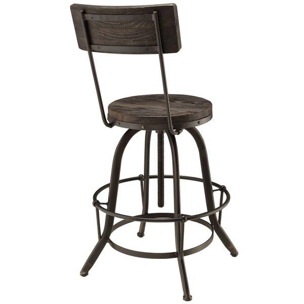 Cartwright Bar Stool - Pine Wood-Black