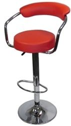 Clampett Bar Stool-Red