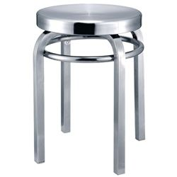 Clampett Stool Chair - Silver