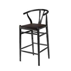 Hans Wegner Style Bar Stool - Black