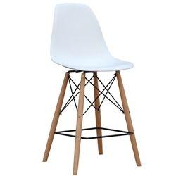 Eiffel Woodbase Counter Stool - White