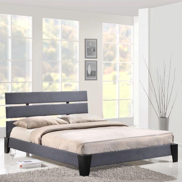 Zoe Queen Gray Fabric Bed Frame
