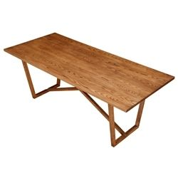 """Kinsey Wood Dining Table - 86.6"""" Ash Wood"""