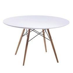 "Eiffel Pyramid Dining Round Fiberglass Table-42"" White"