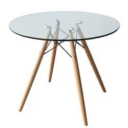 "Eiffel Pyramid Dining Round Glass Table - 29"""