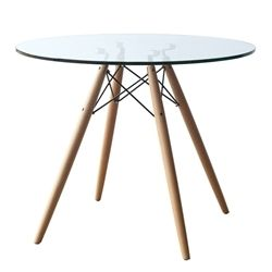 "Eiffel Pyramid Dining Round Glass Table - 42"""
