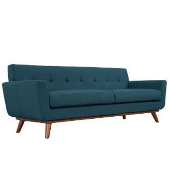 "Finn Juhl Style Sofa-Azure-90"""