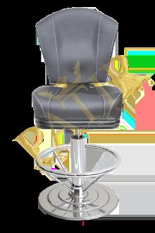 STD Chair without armrest chrome-black